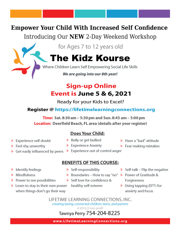 kids course, evolve kids courses, kidz Kourse, kidz course, empower kids